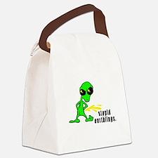 alien peeing copy.jpg Canvas Lunch Bag