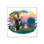 St.Francis #2/ Eng Bull (W-Br Square Sticker 3&quo