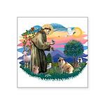"""St.Francis #2/ E Bulldog #3 Square Sticker 3"""""""