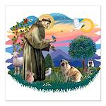 St.Francis #2/ E Bulldog #3 Square Car Magnet 3&qu