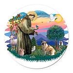 St.Francis #2/ E Bulldog #3 Round Car Magnet