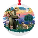 St.Francis #2/ E Bulldog #3 Round Ornament