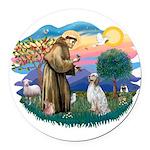 St.Francis #2/ English Set. Round Car Magnet