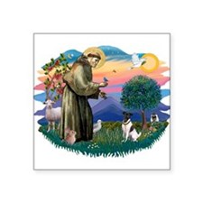 St.Francis #2/ Fox Terrier Square Sticker 3""