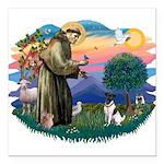 St.Francis #2/ Fox Terrier Square Car Magnet 3&quo