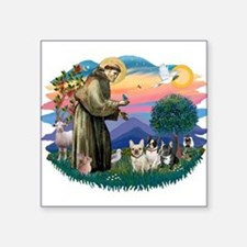 St.Francis #2/ Fr Bulldog (3) Square Sticker 3&quo
