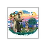 St.Francis #2/ German Shep (P Square Sticker 3&quo