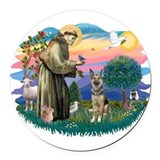 German shepherd dogs Round Car Magnets