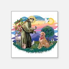 St.Francis #2/ Golden Ret(B4) Square Sticker 3&quo