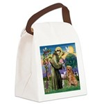 Saint Francis' Golden Canvas Lunch Bag