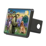 St Francis & Golden Rectangular Hitch Cover