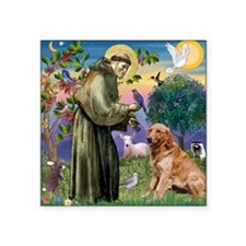 "St Francis & Golden Square Sticker 3"" x 3"""