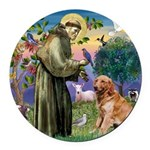 St Francis & Golden Round Car Magnet