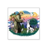 St.Francis #2/ Great Dane (H) Square Sticker 3&quo
