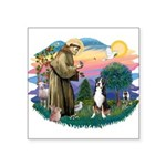 St.Francis #2/ Greater Swiss Square Sticker 3&quot