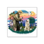 St.Francis #2/ Pyrenees #1 Square Sticker 3""