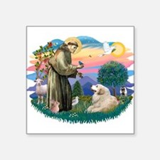 "St.Francis #2/ Pyrenees#2 Square Sticker 3"" x"