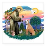 """St.Francis #2/ Greyhound Square Car Magnet 3"""""""