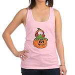 frog in pumpkin copy.png Racerback Tank Top