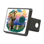 St.Fran. #2/ Havanese pup Rectangular Hitch Cover