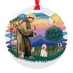 St.Francis #2/ Havanese(#1) Round Ornament