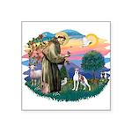 St.Francis #2/ Italian Greyho Square Sticker 3&quo
