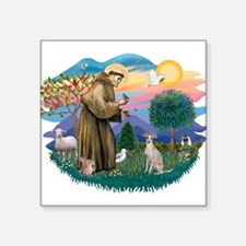 St.Francis #2/ Ital Grey (f) Square Sticker 3&quot