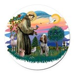 St Francis #2/ Spinone Round Car Magnet
