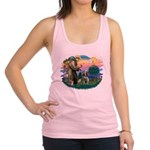 St Francis #2/ Spinone Racerback Tank Top