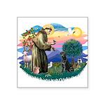 St.Francis #2 / Black Lab Square Sticker 3