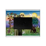 St Francis Chocolate Lab Picture Frame