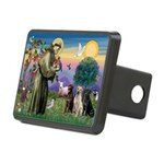 St. Francis/3 Labradors Rectangular Hitch Cover