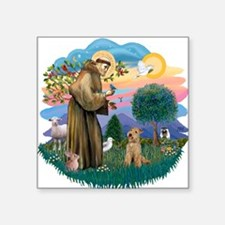 "St Francis #2/ Lakeland T Square Sticker 3"" x 3"""