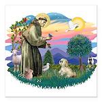 St.Francis #2 / Lhasa Apso (R Square Car Magnet 3&