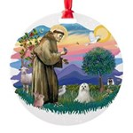 St.Francis #2 / Maltese Round Ornament