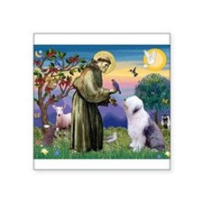 "ST. FRANCIS + OES Square Sticker 3"" x 3"""