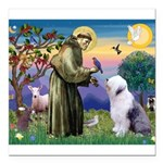 ST. FRANCIS + OES Square Car Magnet 3