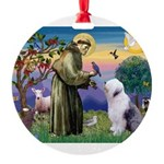 ST. FRANCIS + OES Round Ornament