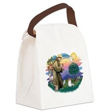 St.Francis #2 / Papillon (sw Canvas Lunch Bag