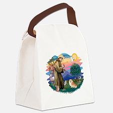 St.Francis #2/ Pomeranian (r) Canvas Lunch Bag
