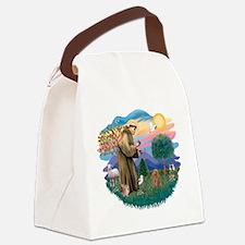 St.Francis #2/ Poodle (Toy A) Canvas Lunch Bag