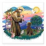 St.Francis #2 / Poodle (ST-Ch Square Car Magnet 3&