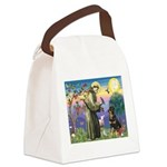 St Francis / Rottweiler Canvas Lunch Bag