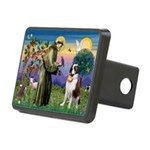 St. Francis/ St. Bernard Rectangular Hitch Cover