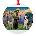 St. Francis/ St. Bernard Round Ornament