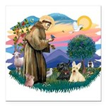 St.Francis #2/ Scottys (2) Square Car Magnet 3&quo