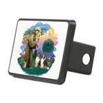 St.Francis #2/ 2 Shelties Rectangular Hitch Cover