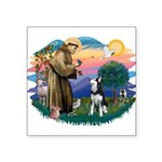 St.Francis #2/ Siberian H #1 Square Sticker 3&quot