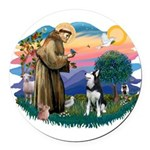 St.Francis #2/ Siberian H #1 Round Car Magnet