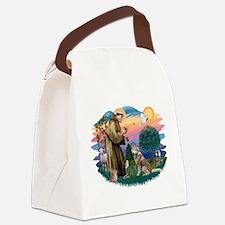 St Francis #2/ S Husky #2 Canvas Lunch Bag